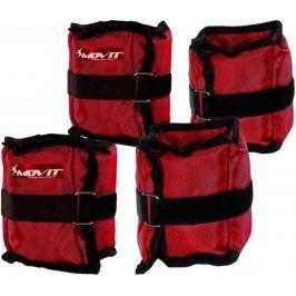 MOVIT 45934 Sada 4 ks kondiční zátěže - 2 x 500 g + 2 x 1000 g - červená