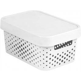 CURVER INFINITY DOTS Úložný box 4,5L - bílý
