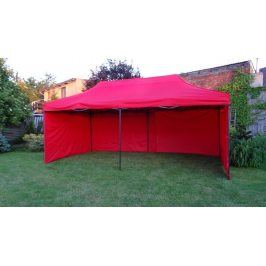 Tradgard DELUXE 41509 Zahradní párty stan  nůžkový + boční stěna - 3 x 6 m červená
