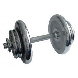 CorbySport 4560 Činka nakládací, jednoruční, chromová - 17 kg