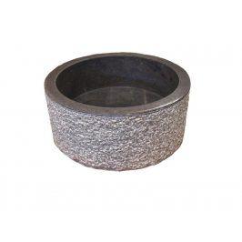Indera MIRUM 509 Ø40 cm Black Umyvadlo z přírodního kamene