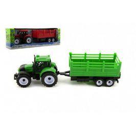 Teddies 54951 Traktor s přívěsem plast 28cm