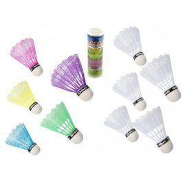 Míčky/Košíčky na badminton plast v tubě, 2 barvy 6x19x6cm