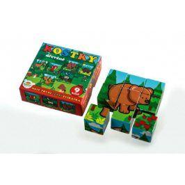 Teddies kostky kubus dřevěné Moje první lesní zvířátka