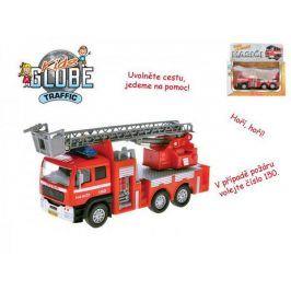 Teddies hasiči 48447 Auto kov 17cm česky mluvící na zpětné natažení na baterie se zvukem v krabičce