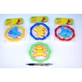 Medvěd/Zajíc Chrastítko plast 12,asst barvy v sáčku 0m+