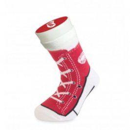 Bláznivé ponožky - basket - červená