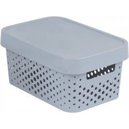 CURVER INFINITY DOTS Úložný box 4,5L - šedý