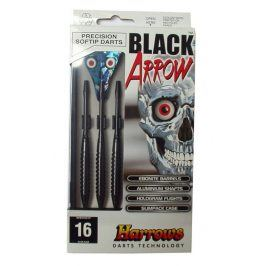 Harrows SOFT BLACK ARROW Šipky s plastovým hrotem 16g