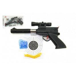 Teddies Pistole plast 30 cm na měkké a vodní kuličky o průměru 6mm v krabici