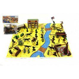 Teddies 58384 Sada indiáni a kovbojové s mapou a doplňky plast
