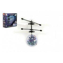 Teddies Vrtulníková koule barevná plast 13x11cm s USB kabelem na nabíjení v krabičce