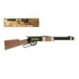 Teddies 58200 Pistole opakovací kovbojská plast 62cm na baterie se světlem
