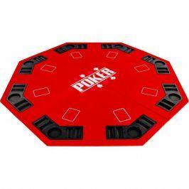 Garthen 57371 Skládací pokerová podložka - červená