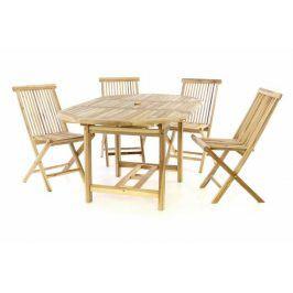 DIVERO 57281 5-dílná sestava zahradního nábytku z teakového dřeva