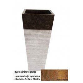 Indera Pedestal square Garis Yellow 57085 Volně stojící kamenné umyvadlo