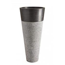 Indera Pedestal Hammered Black 57079 Volně stojící kamenné umyvadlo