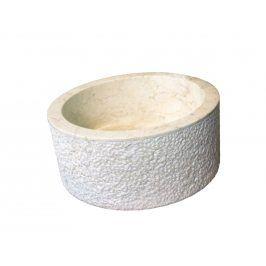 Indera MIRUM 509 Ø40 cm Cream Umyvadlo z přírodního kamene
