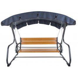 DAJAR VERONA 54682 Zahradní kovová houpačka s dřevěnou sedačkou