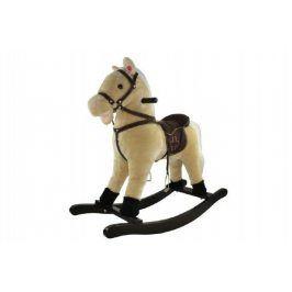 Kůň houpací béžový plyš nosnost 50kg