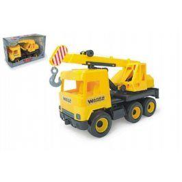 Truck Wader Auto middle jeřáb plast žlutý v krabici