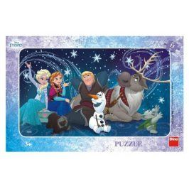 Frozen/Ledové království Sněhové vločky deskové 1dílků 30x19cm