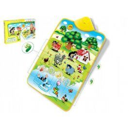 Teddies 49406 Elektronická hrací podložka Krtek a zvířátka 42x61cm v krabici