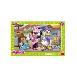 Teddies Minnie na Montmartru 49354 Puzzle deskové 15 dílků 29x19cm