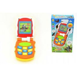 Teddies Krtek 48186 Krtkův mobil telefon měnící obrázky plast se světlem a se zvukem v krabičce 12x21x5cm 6m+