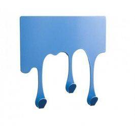 Věšák ve tvaru stékající kapky - modrá