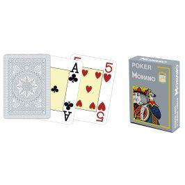 Modiano 41681 100% plastové karty 4 rohy - šedé