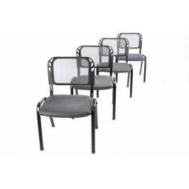 Garthen 41041 Sada 4 stohovatelných kongresových židlí - šedá