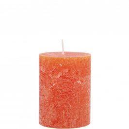 RUSTIC Svíčka 9 cm - oranžová