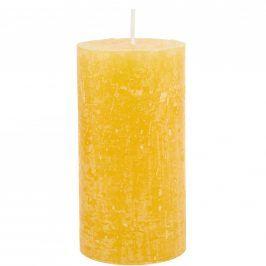 RUSTIC Svíčka 13 cm - žlutá