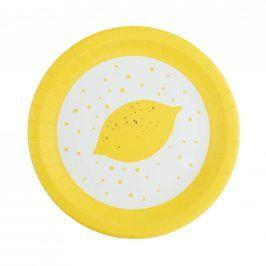 LEMON Papírové talířky, set 10 ks