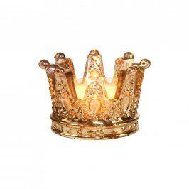 ROYAL DELIGHT Svícen na čajovou svíčku koruna malý
