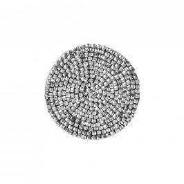 SHINE Prostírání korálky 10 cm - stříbrná