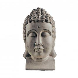 BUDDHA Hlava dekorační - šedá