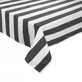 LA LINEA Ubrus 160 x 160 cm - černá/bílá