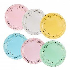 CELEBRATION Papírové talíře konfety 6 ks