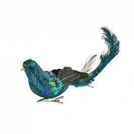 PEACOCK Ptáček s klipem 21 cm
