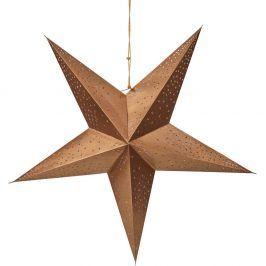 LATERNA MAGICA Dekorační hvězda s hvězdami - hnědá