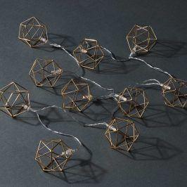 GEOMETRICS LED Světelný řetěz kovové kostky 10 světel