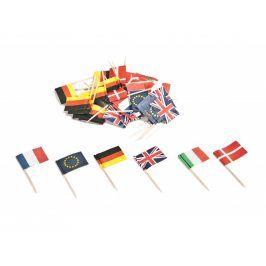 Párátka vlajky 50ks dřevo