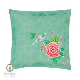Čtvercový polštářek Pip Studio Good Morning 45x45 cm zelená