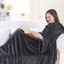 Televizní deka Lazy šedá 170x200 cm šedá