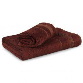 Set 2 bambusových ručníků Moreno - hnědý Set Dvoudílný set
