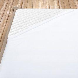 Napínací jersey prostěradlo bílé Dvoulůžko Bavlna - jersey