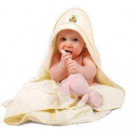 Dětská osuška Maxi s kapucí Osuška bílá