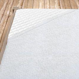 Napínací froté prostěradlo bílé Dvoulůžko Bavlna - froté